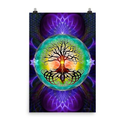 Tree Of Life – 24 x 36 Museum-Quality, Thick, Matte Paper Poster.