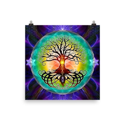 Tree Of Life – 12 x 12 Museum-Quality, Thick, Matte Paper Poster.