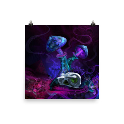 Between Dimensions – 18 x 18 Museum-Quality, Thick, Matte Paper Poster.