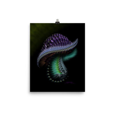 Furry Crystal Mushroom – 8 x 10 Museum-Quality, Thick, Matte Paper Poster