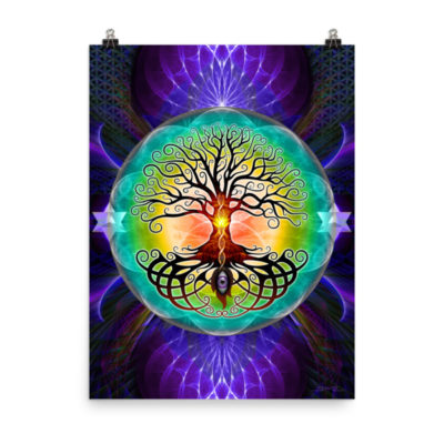 Tree Of Life – 18 x 24 Museum-Quality, Thick, Matte Paper Poster.