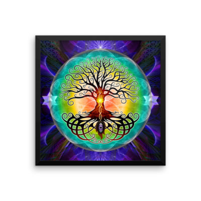 Tree Of Life – 18 x 18 Museum-Quality, Thick, Matte Paper Poster.