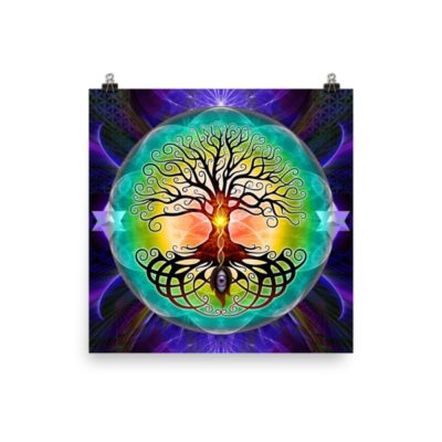 Tree Of Life – 14 x 14 Museum-Quality, Thick, Matte Paper Poster.