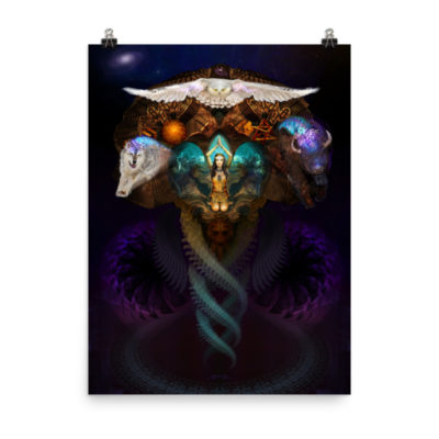 Calling The Spirit Animals – 18 x 24 Museum-Quality, Thick, Matte Paper Poster.